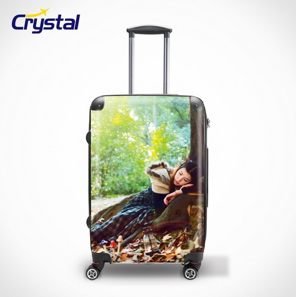 Cheap High Quality Rolling Travel Luggage Bag, Travel Trolley Luggage Bag, PU PC Transparent Luggage