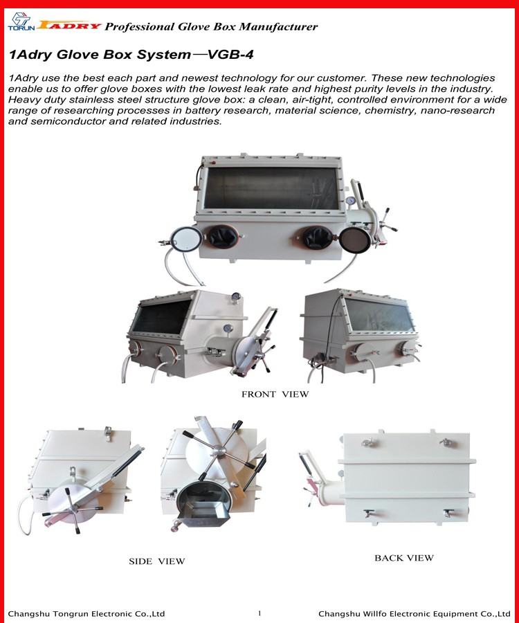 Glove box with Solvent Purification Systems (Purifiers) for Research Teams, Institutions, and Industry