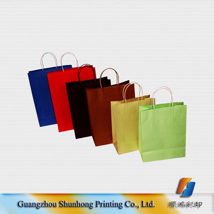 promotion strong colorful kraft paper bags for shopping or gift