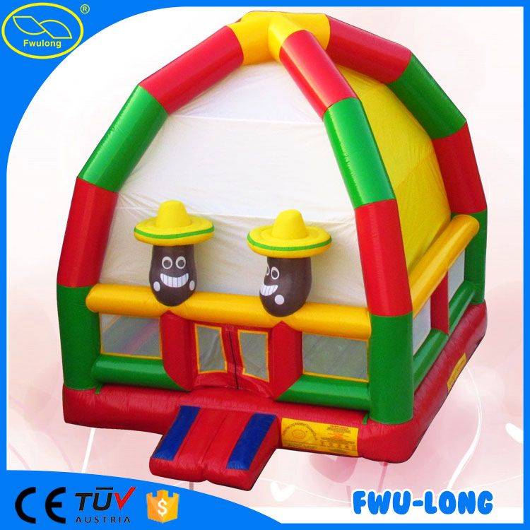 Funny and crazy cheap funfair inflatable bouncy castle