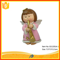 Polyresin cheap small angel figurines for decoration crafts