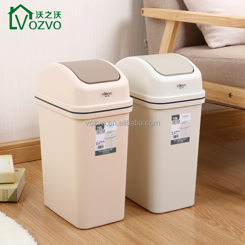 September Swing-Top Desk Trash Can Versatile Wastebasket For Garbage And Rubbis Waste Basket for Bedroom, Kitchen, Bathroom