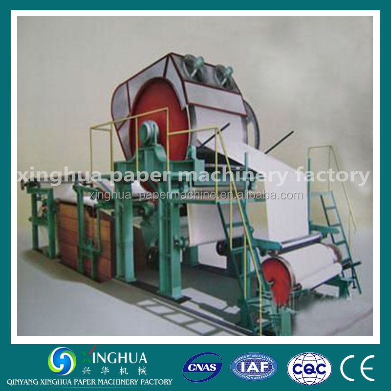 waste paper and rice straw recycling machinery for toilet tissue paper production line
