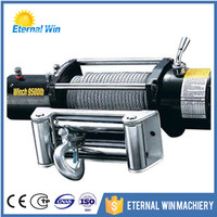 9500 lbs 12v electric capstan winch for passenger cars
