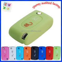 Hot selling silicone car key shell for protection for Peugeot 207 307 308 407