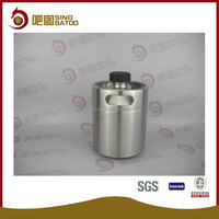 Silk printing 2000ml stainless steel used beer bottles with screw cap for sale