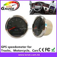 Digital Needle Type GPS Speedometer for Motorcycle/Boat/Vehical , Total Mileage Adjustable , Stainless Steel Bezel
