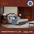 0068 High end European style mahogany solid wood classical bedroom set furniture