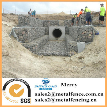 1.5mX0.5mX0.5m welded Galfan galvanized Zn curved gabion box protecting against river erosion stone gabion basket wall