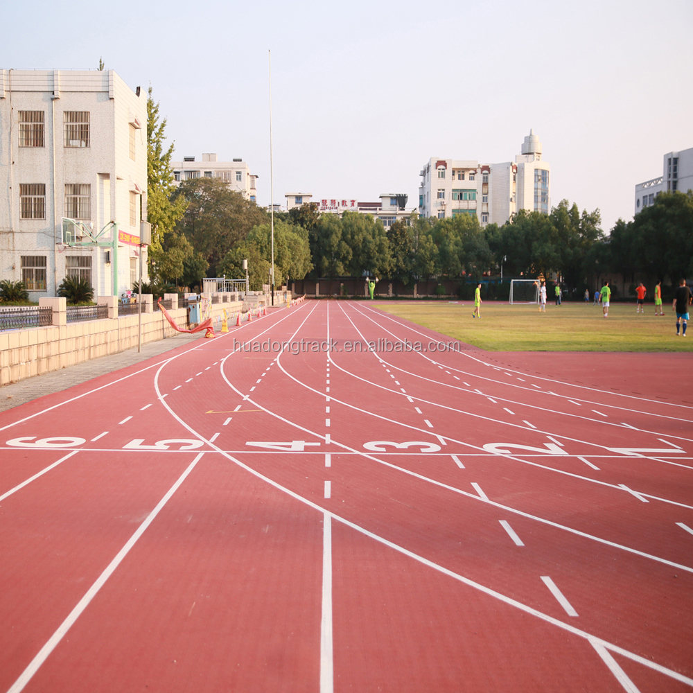 Stadium surface IAAF approved prefabricated rubber running track