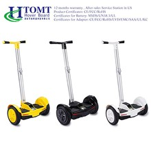 2016 new model 10 inch 500w brushless motor 2 wheel electric balance scooter with handlebar/hoverboard