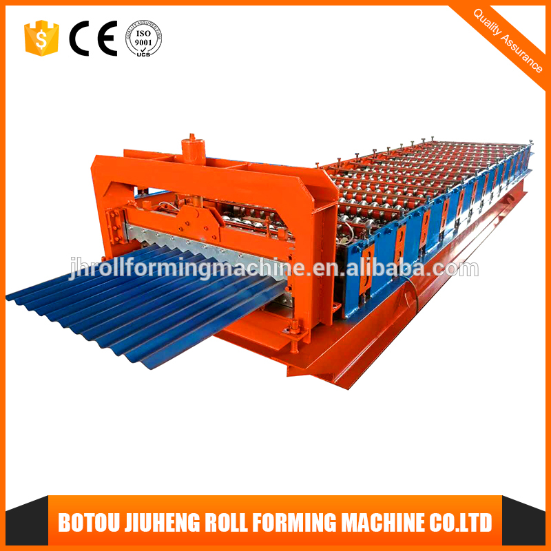Tile forming machine type double layer roof sheet corrugated plate making machinecolored steel and roll