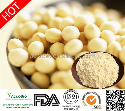 100% Natural Clycine max (L.) Merr Soybean Extract Soy Isoflavones 40% Powder Wholesale