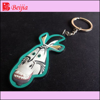 Wholesale custom promotional gift motorcycle shaped 3D pvc/rubber name keychain