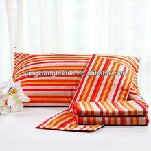 Printed stripe pattern bed sets fabric