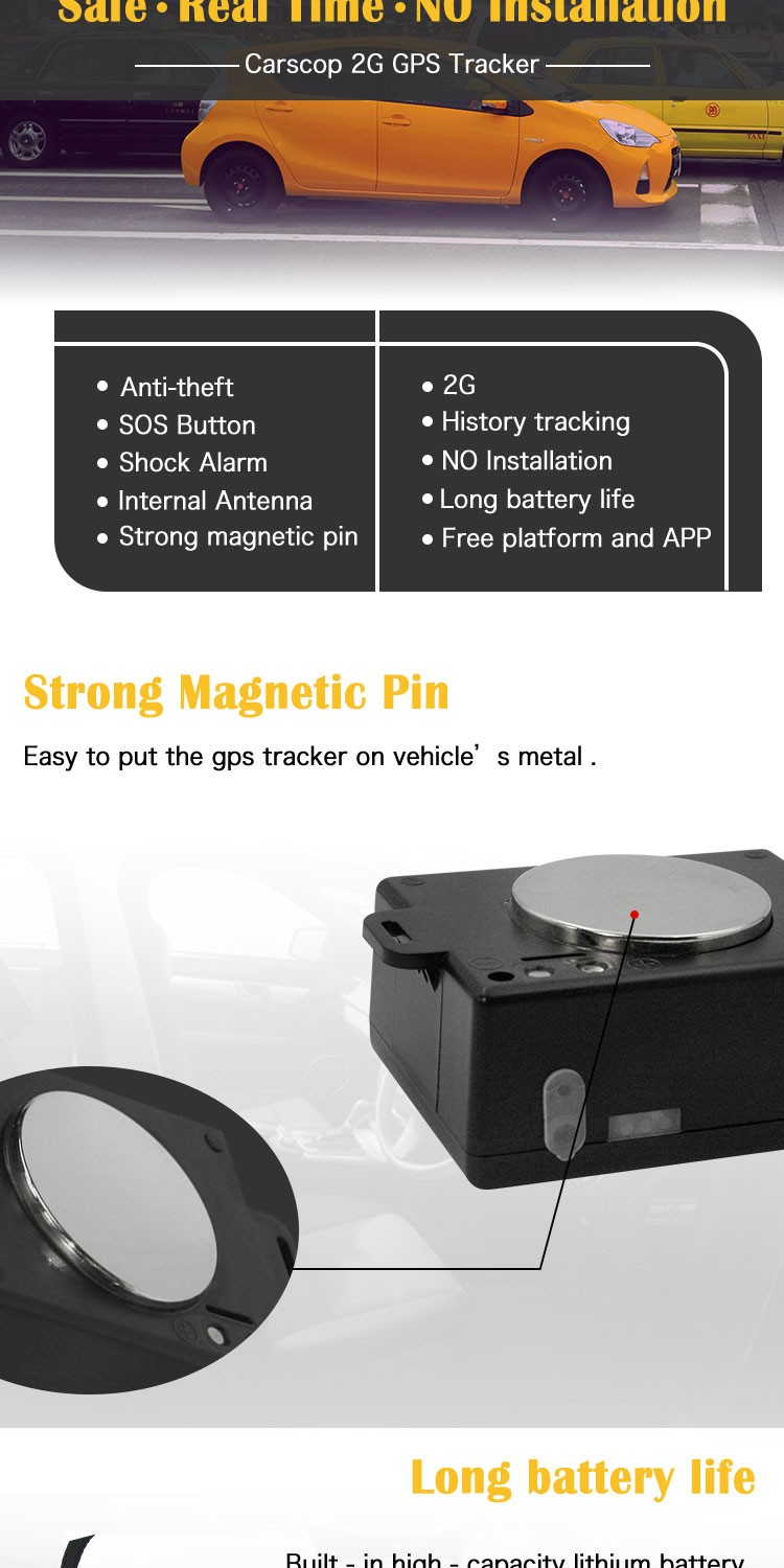 Bike magnetic portable programmable China asset gps tracker motion detect manufacturer car container trackers long life battery