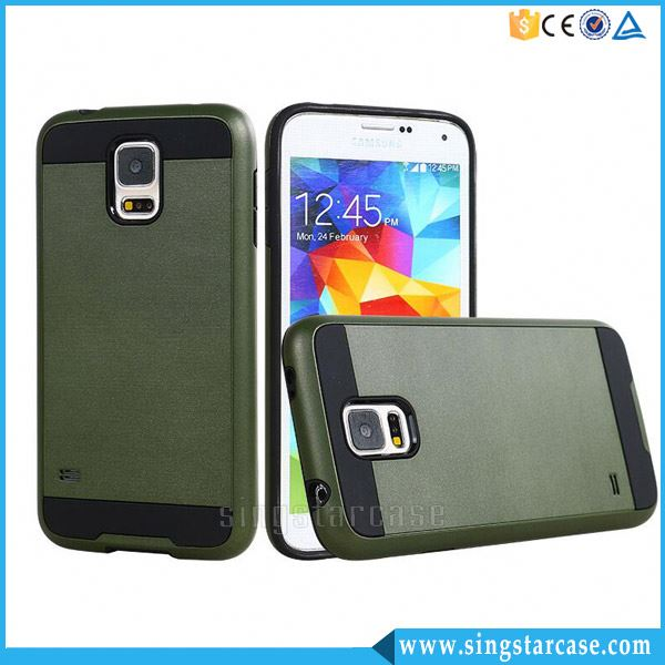 Mar Combo PC+TPU Rubber Hybrid Slim Armor Case for Samsung Galaxy S5 i9600