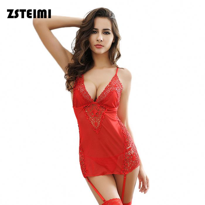 Special Design Eco-Friendly Red Hollow Embroidery Transparent Women Underwear