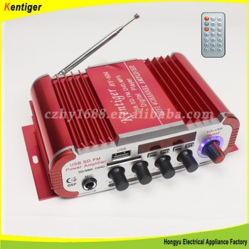 Sliver Kentiger Tripath Class-T Hi-Fi Audio Mini Car Amplifier 12V DC