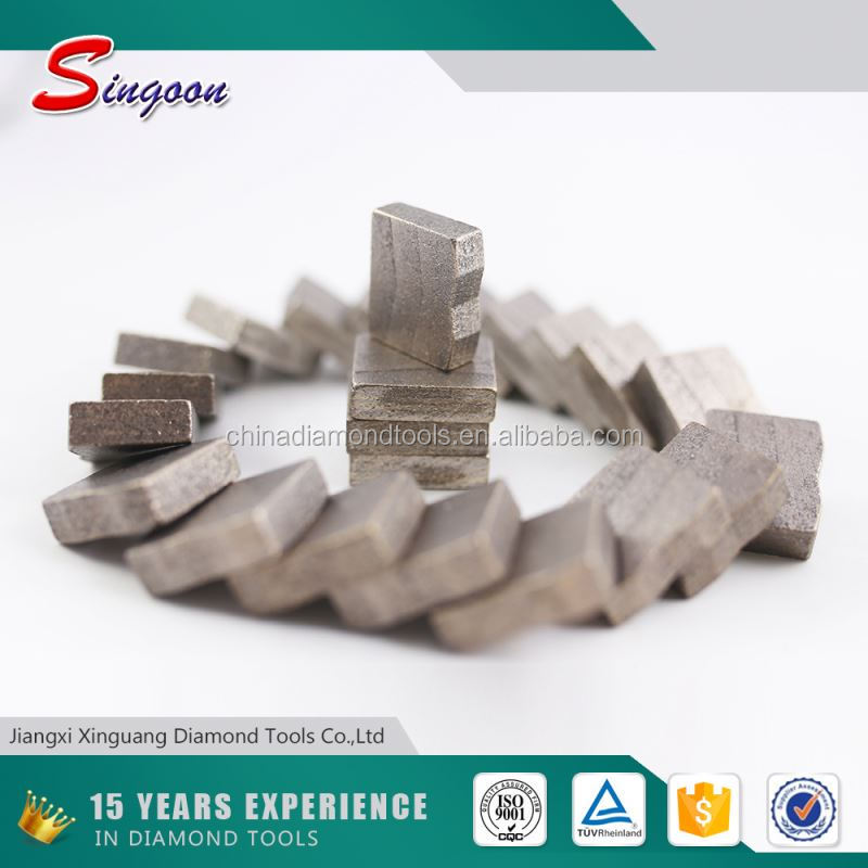 Cheapest price Wet Cutting Marble and Granite Edge Cutting Segment Welded On Saw Blade For Block Cutter Machine