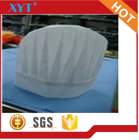 High quality chef cap nonwoven fabric with 100% polyester
