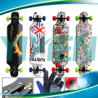 High quality maple skateboard longboard with customized blank deck