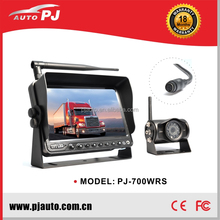 "7"" Integrated Bus/Truck Monitor and Camera Parking System, commercial vehicle use rear view wireless system"