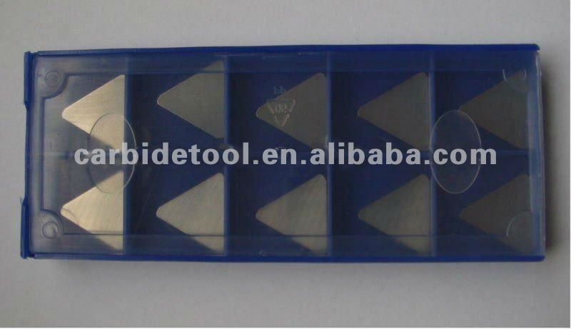 Cemented carbide indexable triangle milling inserts