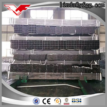 Super weld black steel perforated square hollow pipes via Tianjin port believable steel tube 100mm*100mm
