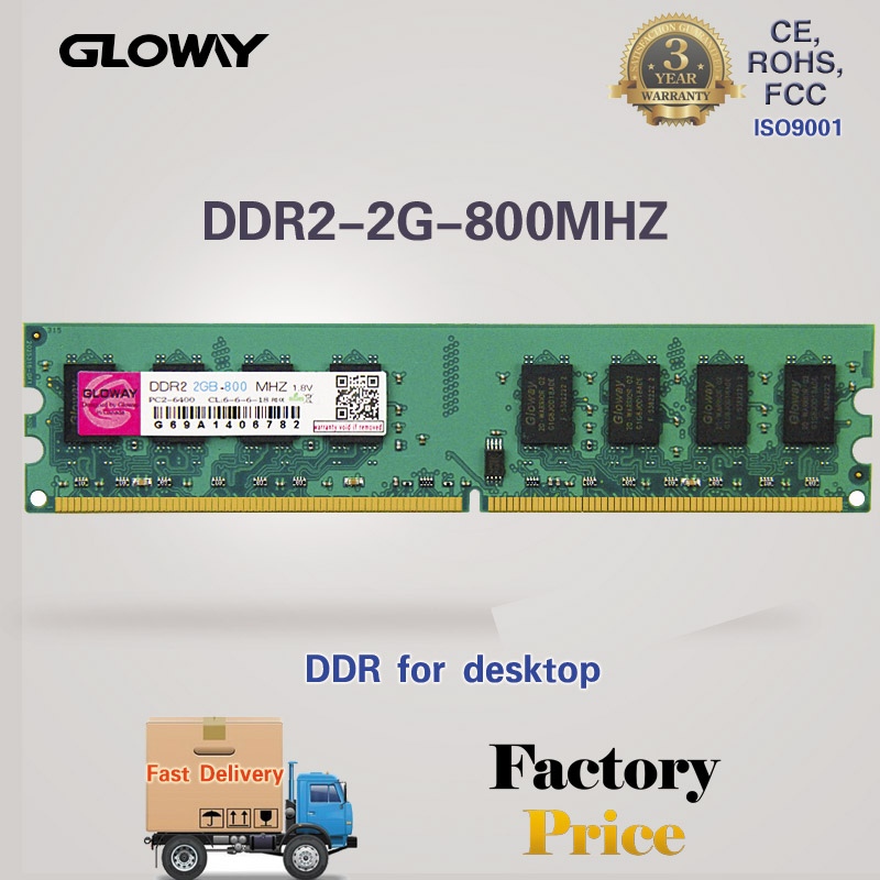 Best price cheap price 2gb ram ddr2 800 mhz pc6400 with 3 years warranty