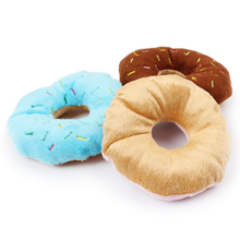 Five Star New Doughnut Squeaky Plush Toy Dog