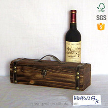 Hongwei handmade Wood Material custom varnished wine box solid wood cheap