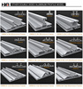 45-160mm exhibition aluminium frame system aluminum light box extrusion for double face light box