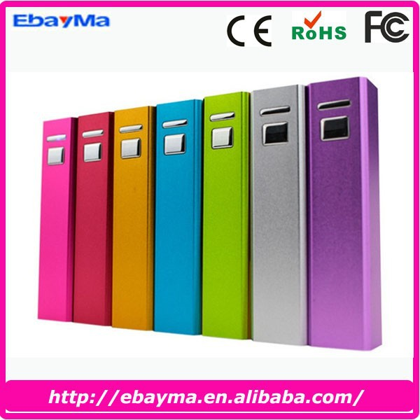 Factory direct wholesale portable power bank for <strong>mobile</strong> phone, power charger, 2600mah power bank