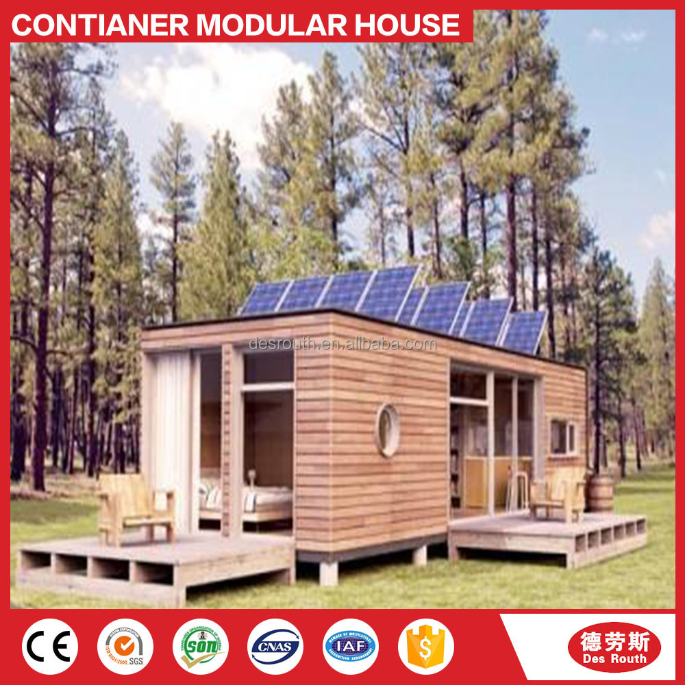 Container house villa with a swimming pool prefabricated house good quality