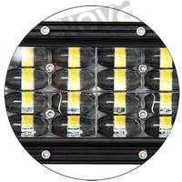 LEDs Latest 4D optic Additional 4 rows LED light bar for wrangler jeep