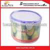 Round Oven Safe Clear Plastic Lunch Box For School Students