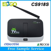 High quality CS918S AllwinnerA31 Quad Core with camera cable tv black box android tv box with sim card