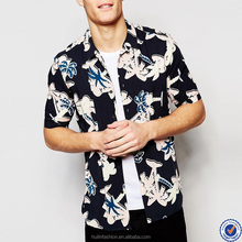 palm tree print latest shirts for men pictures short sleeve tropical style mens shirt