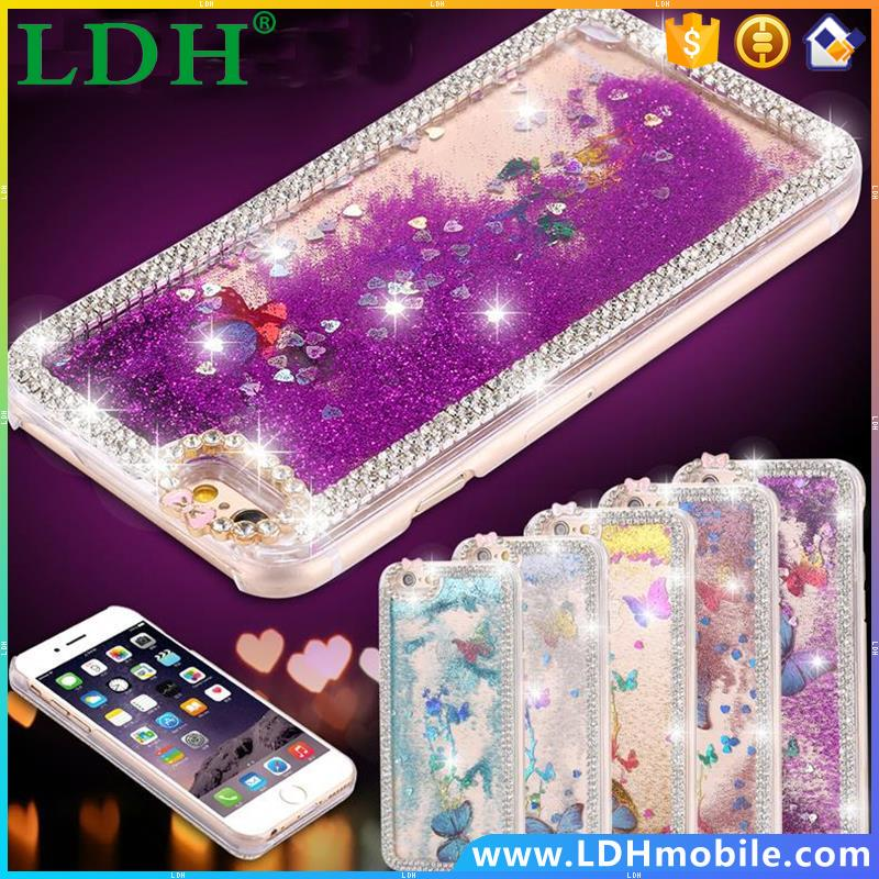 5 5S Luxury Bling Butterfly Diamond Shiny Ultrathin Protective Clear Phone Cases For Apple Iphone 5 5s Bag Covers Summer Capa
