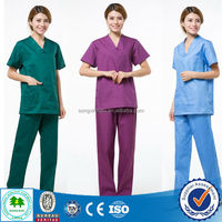 High end hospital scrubs/100% polyester scrubs/Factory uniforms scrubs