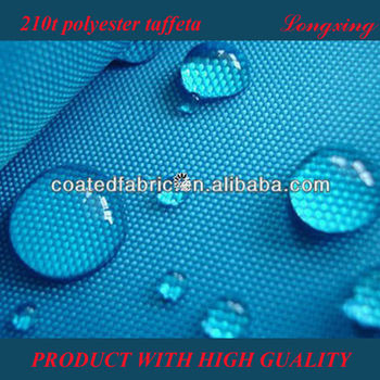 210T taffeta with pu coating/pu coated taffeta fabric