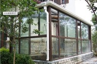 Hot sale outdoor glass garden sun room with tempered glass