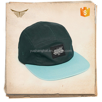 China factory custom 5-panel baseball cap with patch for adults