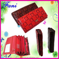 Multicolor genuine leather wallets with zip coin pocket of Guangzhou Fani manufacturer