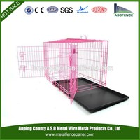 alibaba handmade dog cage in black with plastic trays wholesale for Europe
