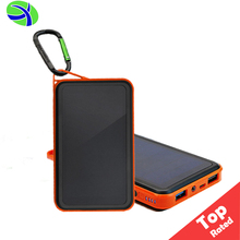 Amazon 10000mAh Portable Mobile Solar Panel Charger, 1.25W Waterproof Solar Fast Charging Power Bank, Solar Cell Phone Charger