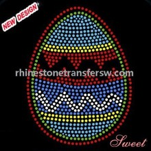 Easter Egg Rhinestone Motifs Iron on Transfers Garment Accessories Supplier