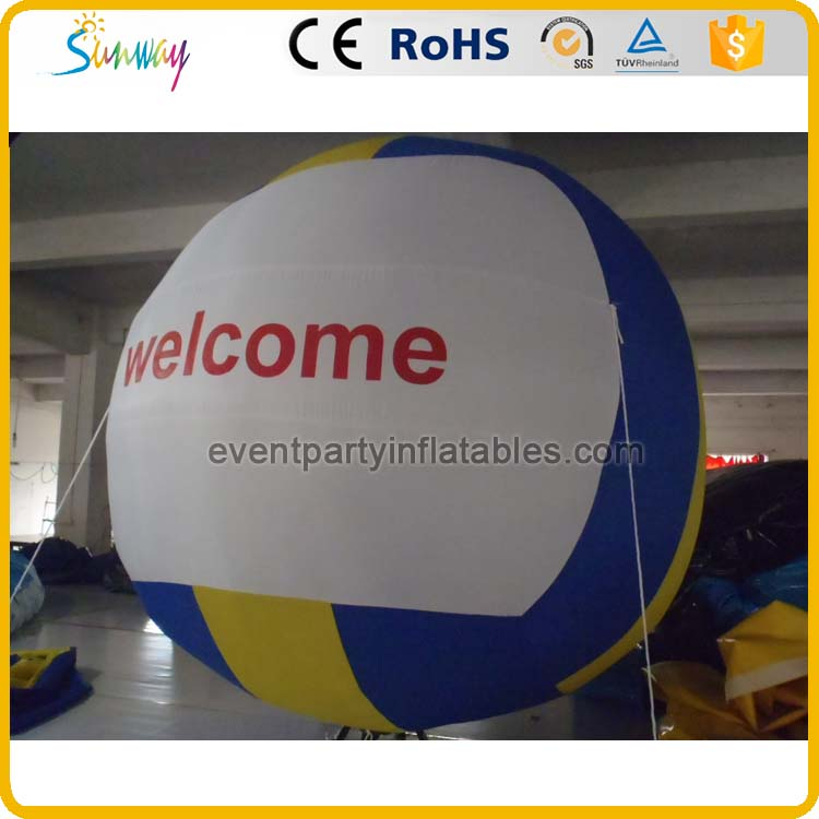 Giant inflatable volleyball welcome model for stadium