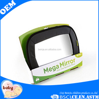 Oxford fabric frame baby rear view mirror adjustable back seat baby mirror Acrylic surface baby mirror